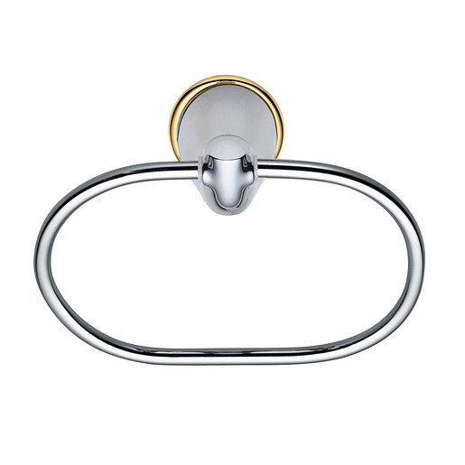 Villeta Chrome/polished brass towel ring