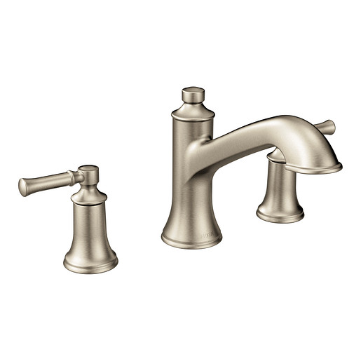 Dartmoor Brushed nickel Two-Handle High Arc Roman Tub Faucet