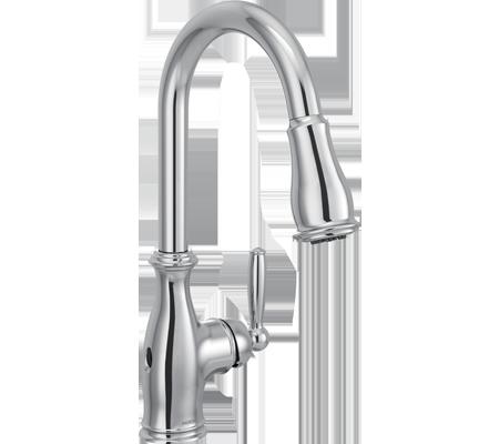 Browse Moen's Chrome Kitchen Faucets