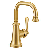 Colinet Brushed gold one-handle high arc bathroom faucet