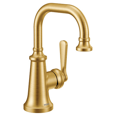 Moen Colinet Brushed Gold One-Handle High Arc Bathroom Faucet