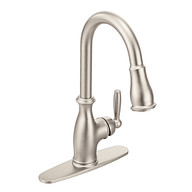 Brantford Spot Resist Stainless One-Handle High Arc Pulldown Kitchen Faucet