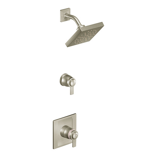90 Degree Brushed nickel ExactTemp® shower only