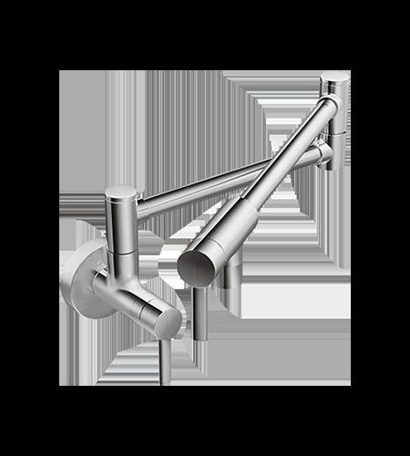 5oclock Modern Pot Filler Chrome Two-Handle Kitchen Faucet s665