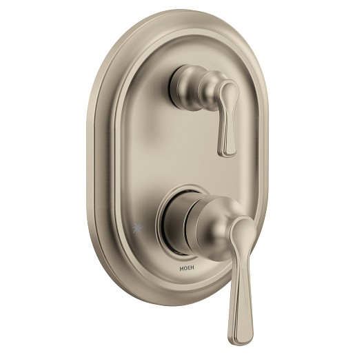 Colinet Brushed Nickel M-CORE 3-Series With Integrated Transfer Valve Trim