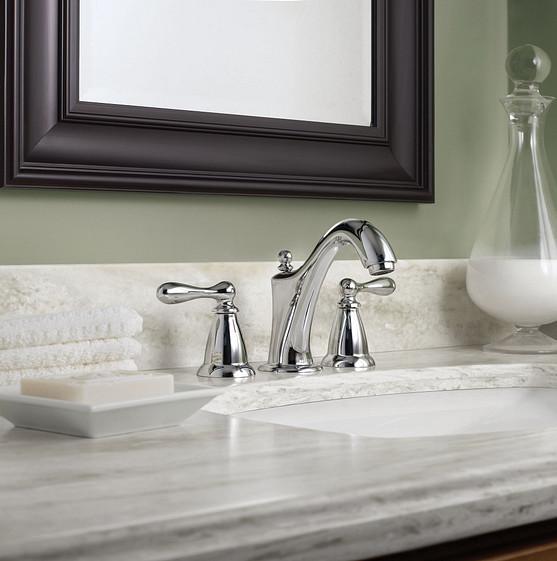 Caldwell Chrome Two-Handle High Arc Bathroom Faucet WS84440