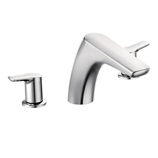 Method Chrome Two-Handle Low Arc Roman Tub Faucet