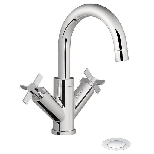 Solace Chrome two-handle high arc bathroom faucet