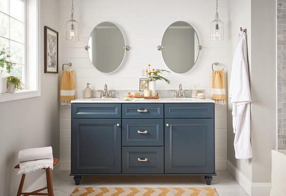 Spot Resist Brushed Nickel Bath Faucet and Lighting