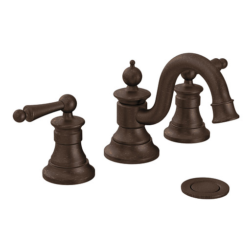 Waterhill Oil rubbed bronze Two-Handle High Arc Bathroom Faucet