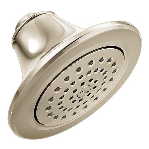 "Moen Polished Nickel One-Function 5 7/8"" Diameter Spray Head Eco-Performance Showerhead"