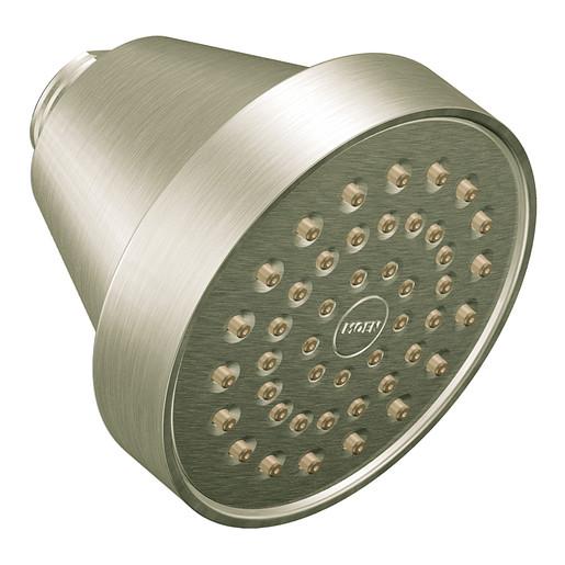 """Moen Brushed Nickel One-Function 3 5/8"""" Diameter Spray Head Eco-Performance Showerhead"""
