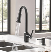 Indi One-Handle Pulldown Kitchen Faucet Matte Black 87090BL