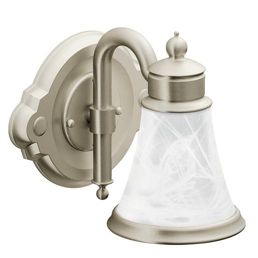 Waterhill Brushed nickel Bath Light