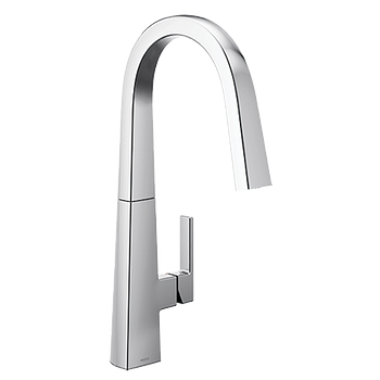 11oclock Nio Chrome One-Handle High Arc Pulldown Kitchen Faucet