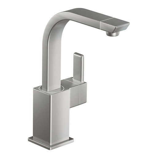 90 Degree Classic stainless one-handle high arc single mount bar faucet