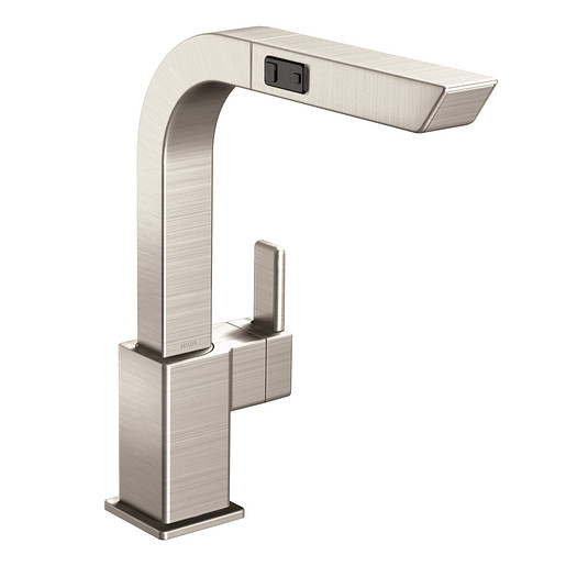 90 Degree Spot resist stainless One-Handle High Arc Pullout Kitchen Faucet