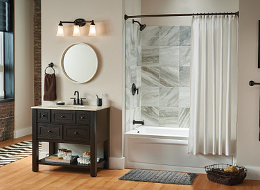 Add Some Drama to the Bathroom with Oil Rubbed Bronze