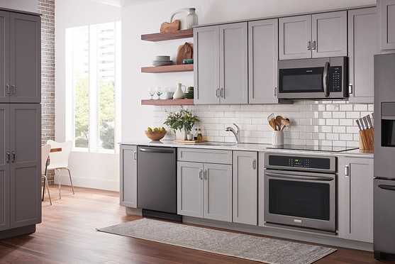 Install smaller appliances to open up a kitchen space