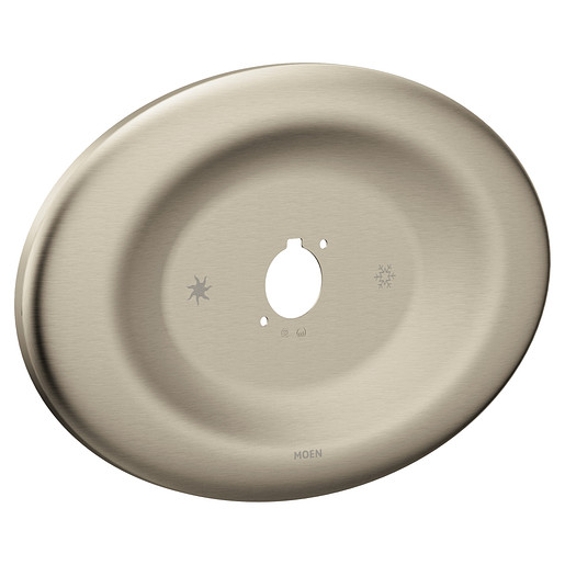 Moen Brushed Nickel Remodel Cover Plate (Escutcheon) for Posi-Temp Valve