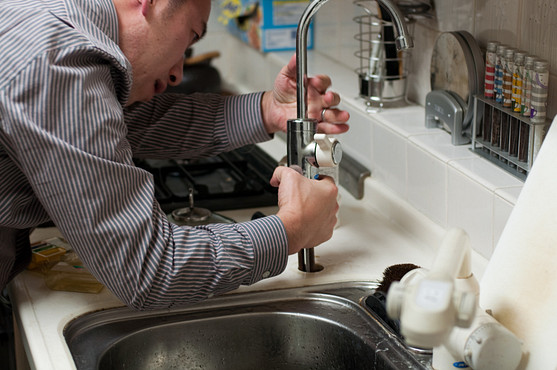 Remove the old faucet