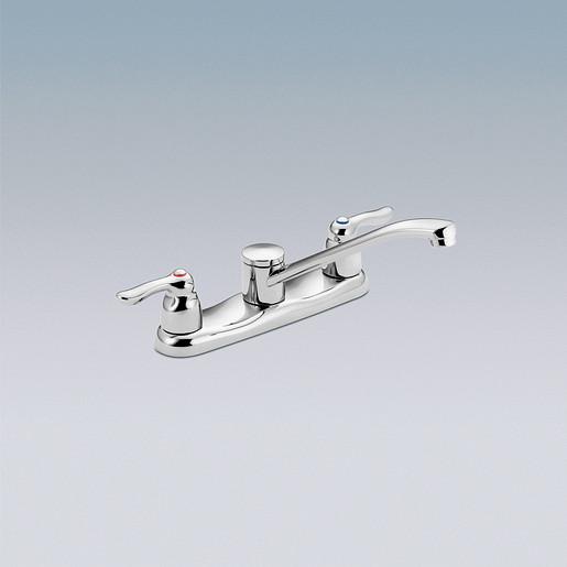 M-BITION Chrome two-handle kitchen faucet