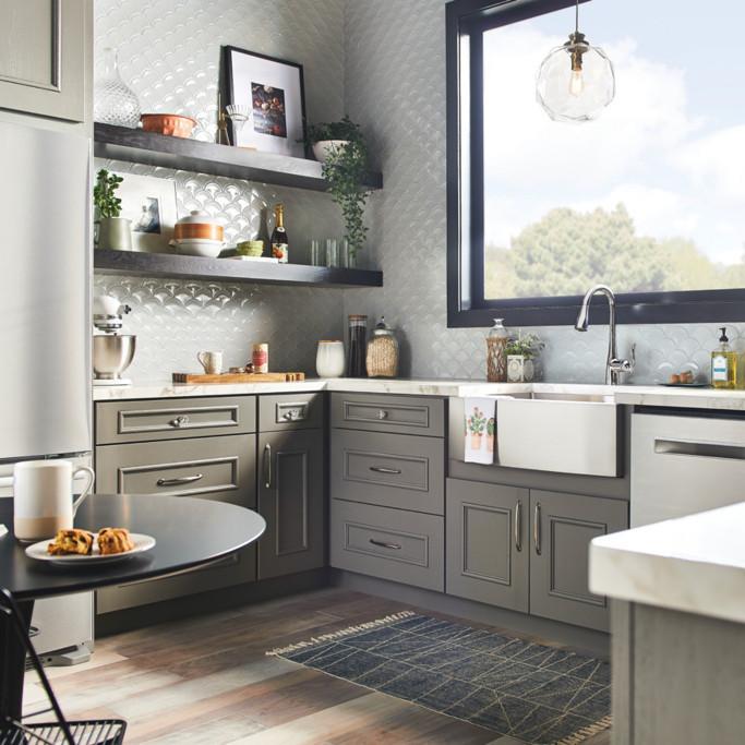 Room Shot Chrome Arbor Kitchen Faucet