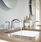 Glyde Chrome Two-Handle High Arc Bathroom Faucet