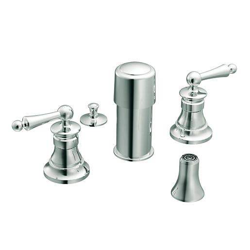 Waterhill Chrome two-handle bidet faucet