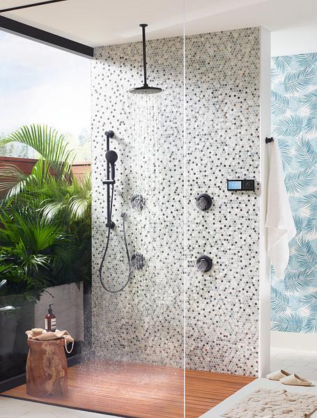 U by Moen Smart Shower in Matte Black
