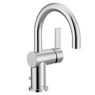 Cia Chrome one-handle high arc bathroom faucet