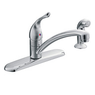 Chateau Chrome One-Handle Low Arc Kitchen Faucet