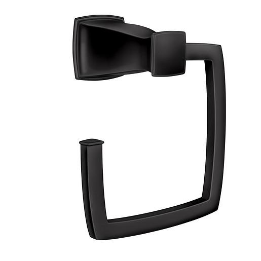 Hensley Matte Black Towel Ring