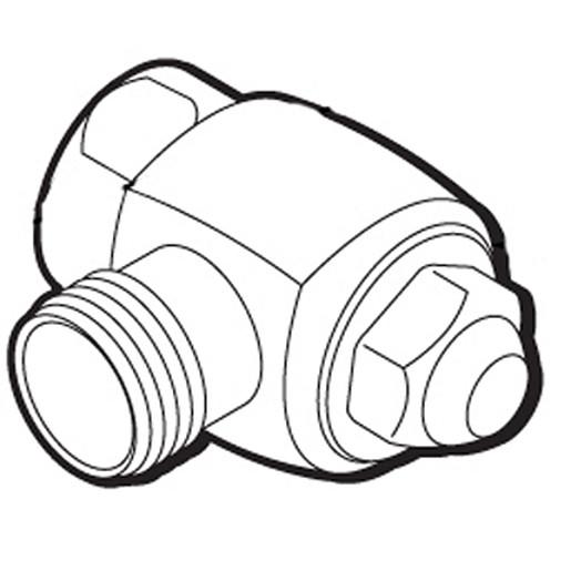"Commercial 1"" Angle stop valve flush valve"