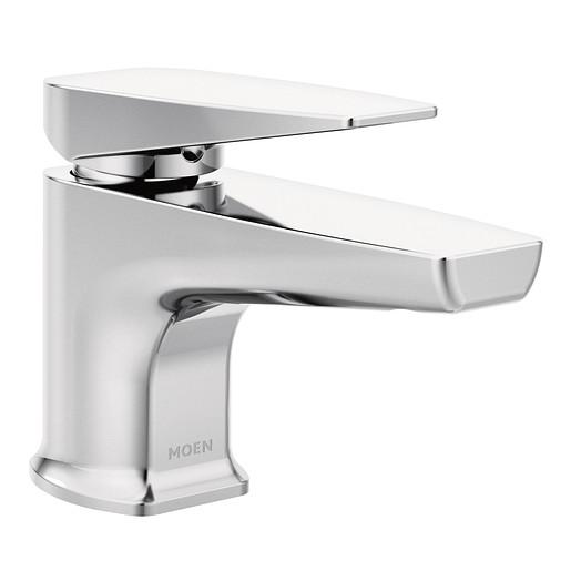 Via Chrome One-Handle Low Arc Low Profile Bathroom Faucet