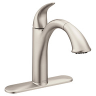 Camerist Spot Resist Stainless One-Handle Low Arc Pullout Kitchen Faucet