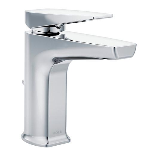 Via Chrome One-Handle Low Arc Bathroom Faucet