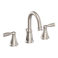 Banbury Spot Resist Brushed Nickel Two-Handle High Arc Bathroom Faucet