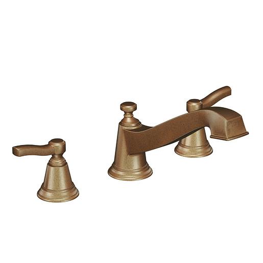 Rothbury Antique bronze two-handle low arc roman tub faucet