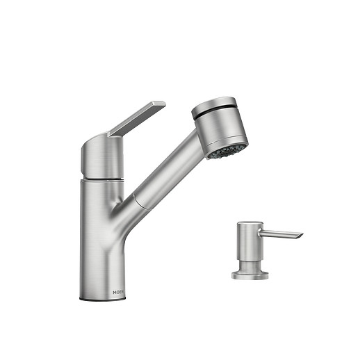 Sombra Spot Resist Stainless One-Handle Pullout Kitchen Faucet