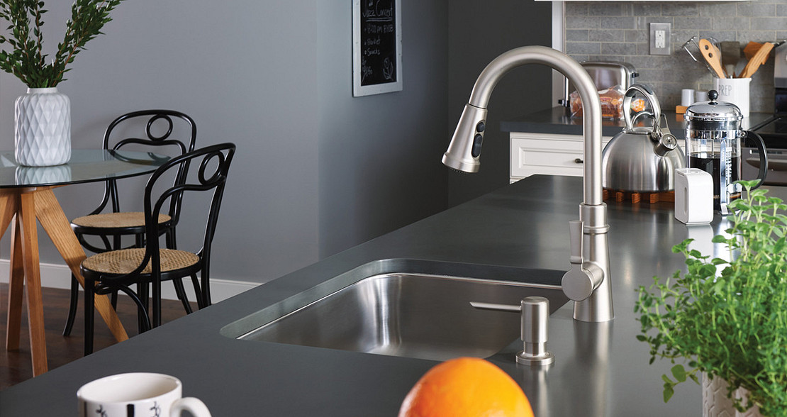 Tullis Spot Resist Stainless One-Handle Pulldown Kitchen Faucet 87235SRS