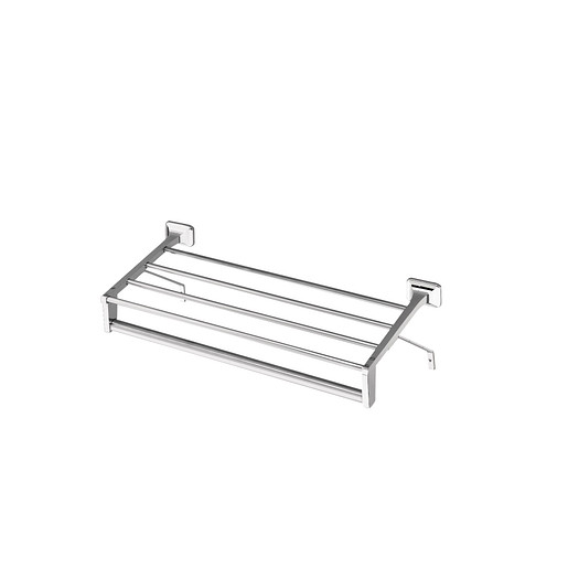 """Donner Commercial Chrome 18"""" towel bar with shelf"""