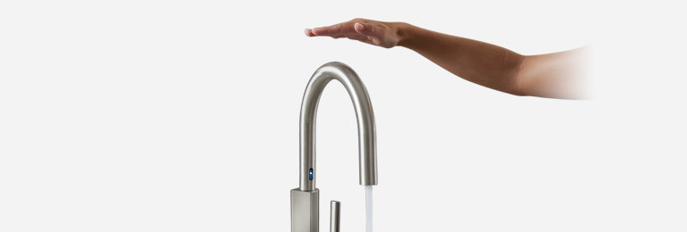 Experience hands free convenience with MotionSense touchless faucets