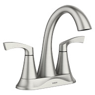Korek™ 2-Handle Centerset Bathroom Faucet Spot Resist™ Brushed Nickel