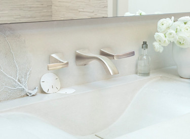 Voss Brushed Nickel Wallmount Bathroom Faucet