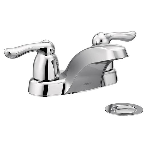 Chateau Chrome Two-Handle Low Arc Bathroom Faucet