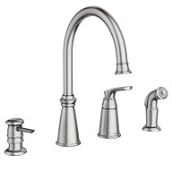 Whitmore Spot Resist Stainless One-Handle High Arc Kitchen Faucet