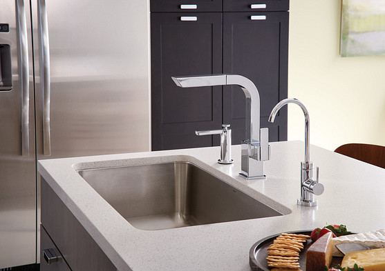 Select a modern faucet for your kitchen or bathroom