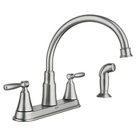 Hutchinson Spot Resist Stainless Two-Handle Kitchen Faucet