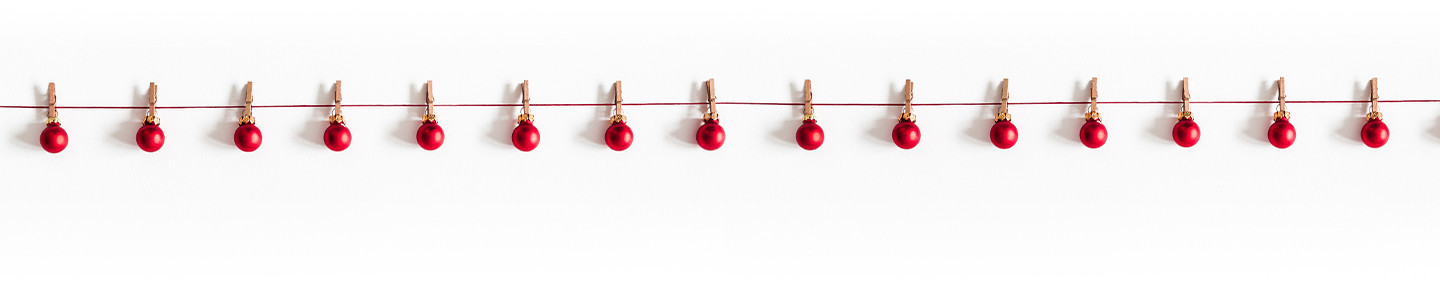 Red Ornament Clothesline